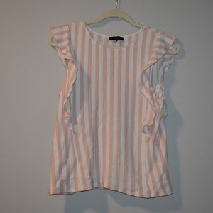 Boutique pink striped top